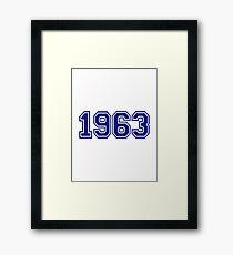 1963 Framed Print