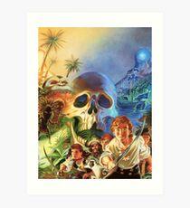 The Secret of Monkey Island 1 (High Contrast) Art Print