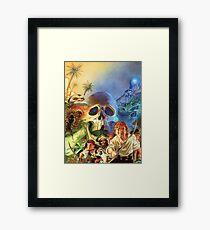 The Secret of Monkey Island 1 (High Contrast) Framed Print