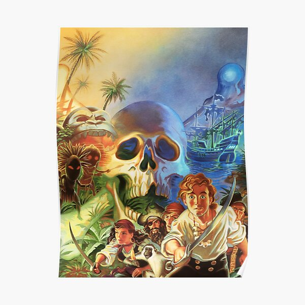 The Secret of Monkey Island 1 (High Contrast) Poster