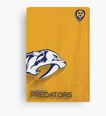 Nashville Predators Minimalist Print Canvas Print