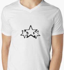 Tri Star. Men's V-Neck T-Shirt
