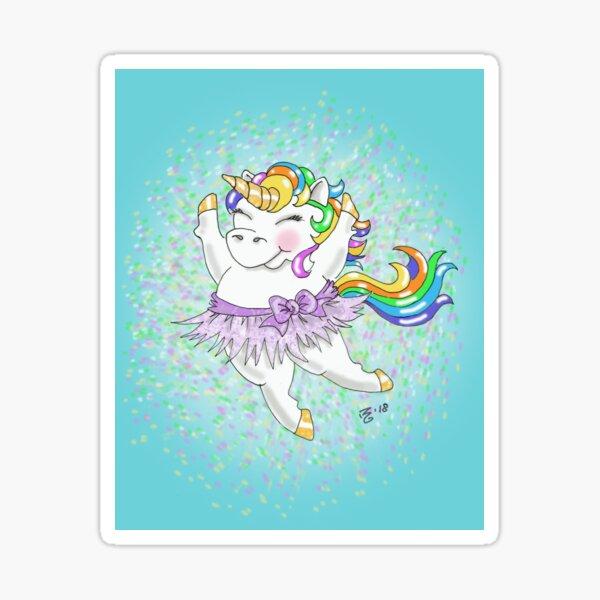 Sparkle the Rainbow Unicorn Sticker