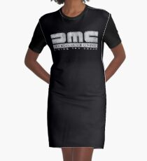 DeLorean Motor Company - White Dirty Graphic T-Shirt Dress