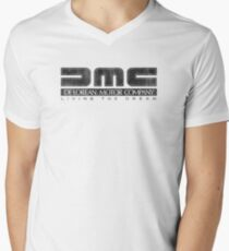 DeLorean Motor Company - Black Dirty Men's V-Neck T-Shirt