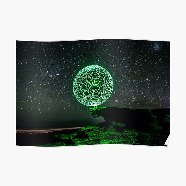 Green Orb Poster