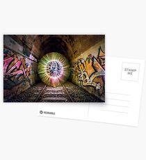 Train Tunnel Orb Postcards