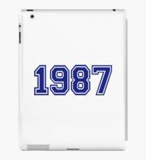 1987 iPad Case/Skin