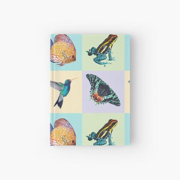 Colibri Frog Fishie Moth Animal Illustrations Hardcover Journal