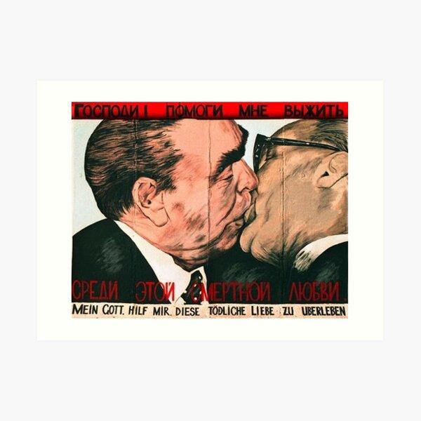 Fraternal Kiss Art Print