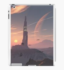 Lonely outpost on a far away planet iPad Case/Skin