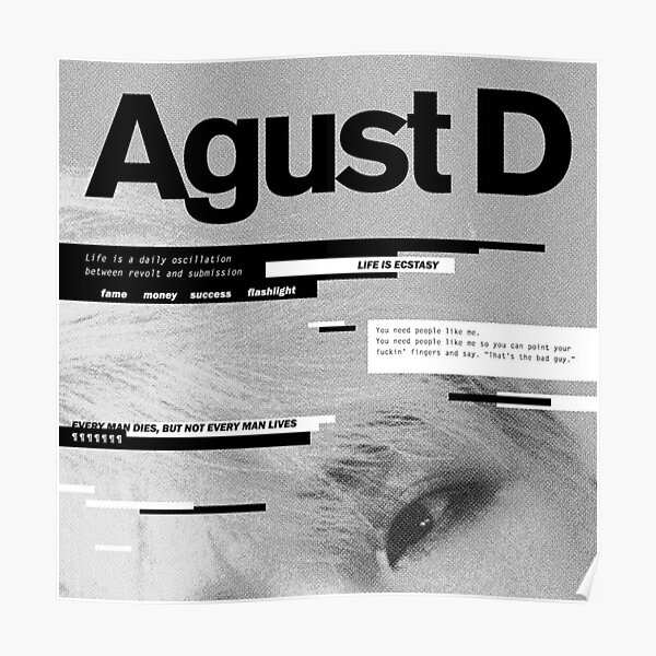 Agust D Posters Redbubble