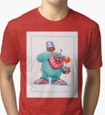 Killer Clowns From Outer Space Art Tri-blend T-Shirt