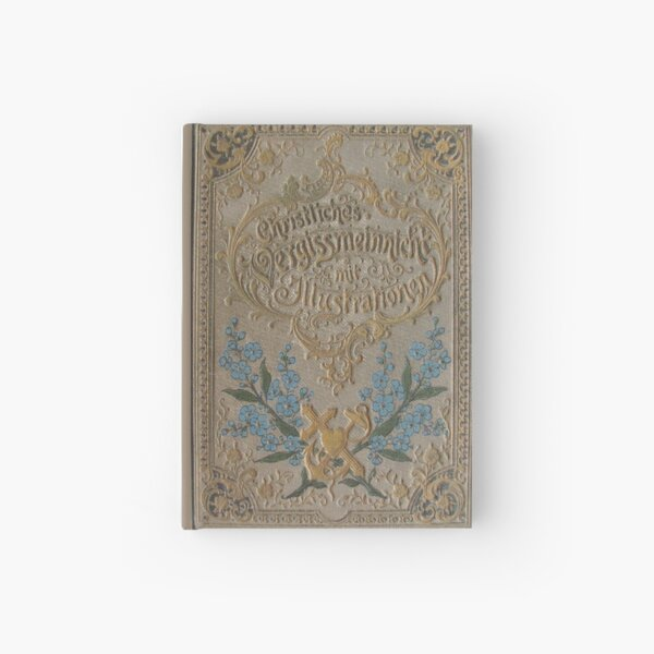 Antique German Book Cover Hardcover Journal