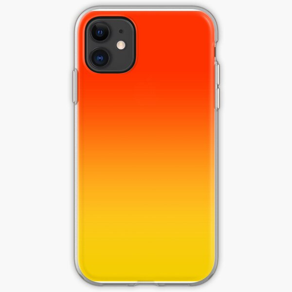 OMBRE GRADIENT ORANGE RED AND YELLOW ONE OF 100 CHIC OMBRE 2 TONE DESIGNS ON OZCUSHIONS iPhone Soft Case