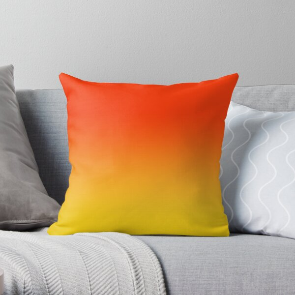 OMBRE GRADIENT ORANGE RED AND YELLOW ONE OF 100 CHIC OMBRE 2 TONE DESIGNS ON OZCUSHIONS Throw Pillow