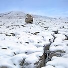 Twistleton Scar in snow, Yorkshire Dales National Park, UK by Wendy  McDonnell