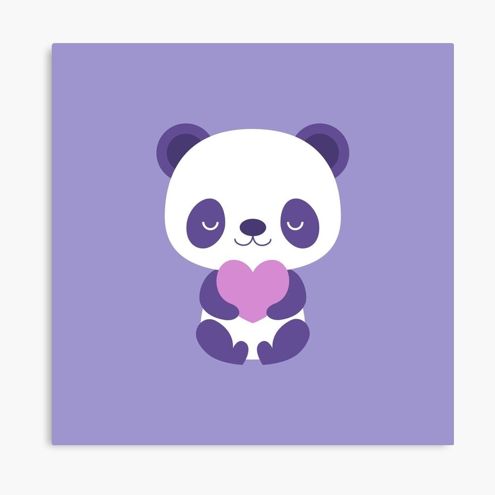 Cute Purple Baby Pandas Metal Print By Petitspixels Redbubble