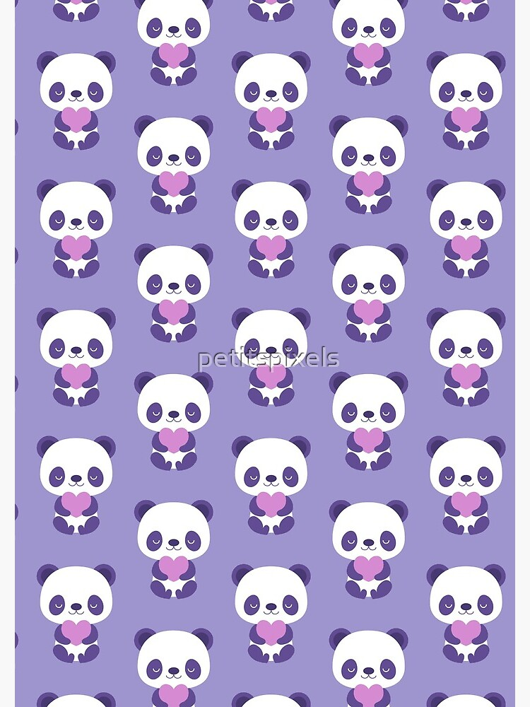 Cute purple baby pandas by petitspixels