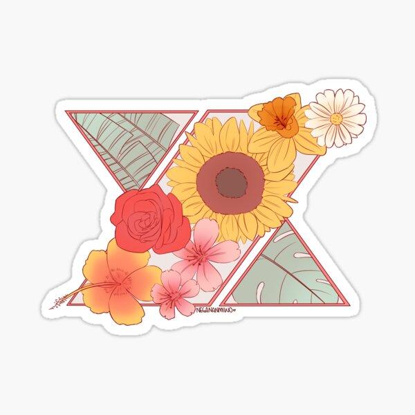 knk flower logo Sticker