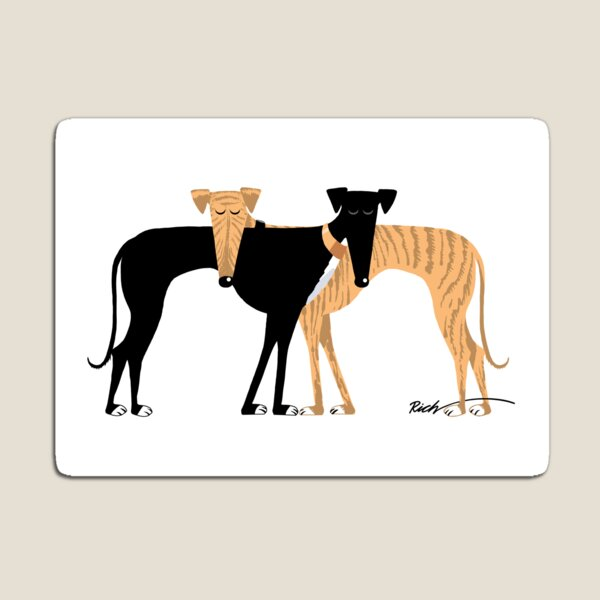 Head Rest Hound: A Redbubble exclusive design Magnet