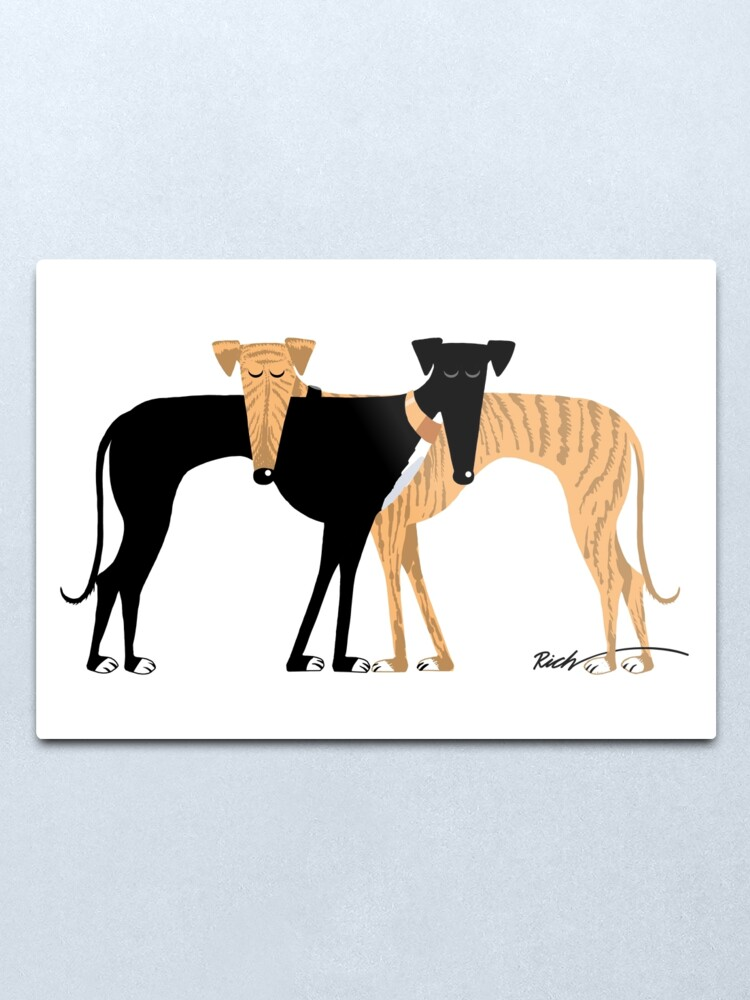 Alternate view of Head Rest Hound: A Redbubble exclusive design Metal Print