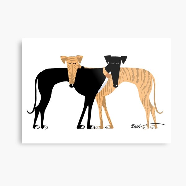 Head Rest Hound: A Redbubble exclusive design Metal Print