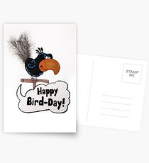 Happy Bird-Day Postcards