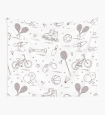 Equipment for sports activities for children. Wall Tapestry