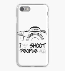 Shoot People for Fun Cartoonist Version (v2) iPhone Case/Skin