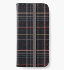 A very gloomy plaid iPhone Wallet/Case/Skin