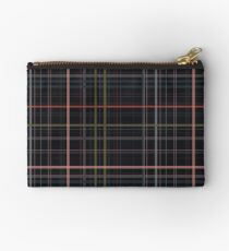 A very gloomy plaid Zipper Pouch