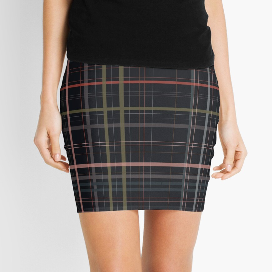 A very gloomy plaid Mini Skirt