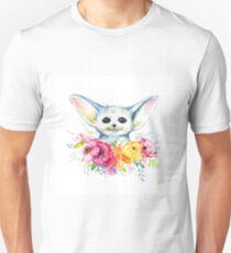 Hand drawn watercolor fennec fox Unisex T-Shirt