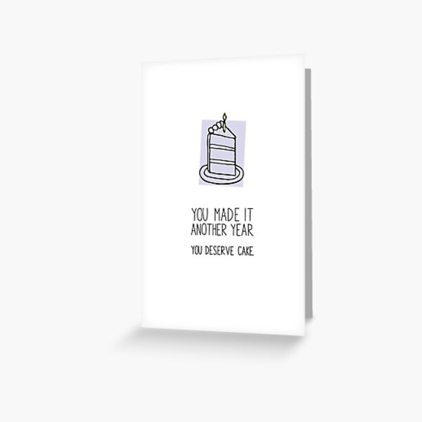 Living is Hard Work Greeting Card