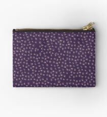 Purple Animal Print Zipper Pouch