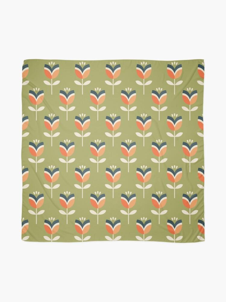 Alternative Ansicht von Retro Tulpe - Orange und Olivgrün Tuch