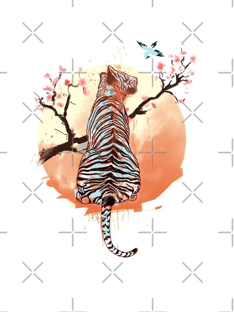 Tiger at the sakura's tree by THEILO