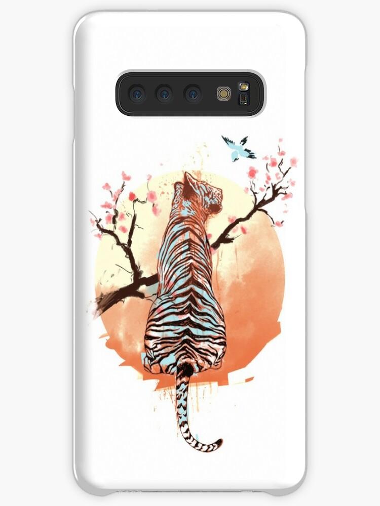 Tiger at the sakura's tree by Ilona Hibernis