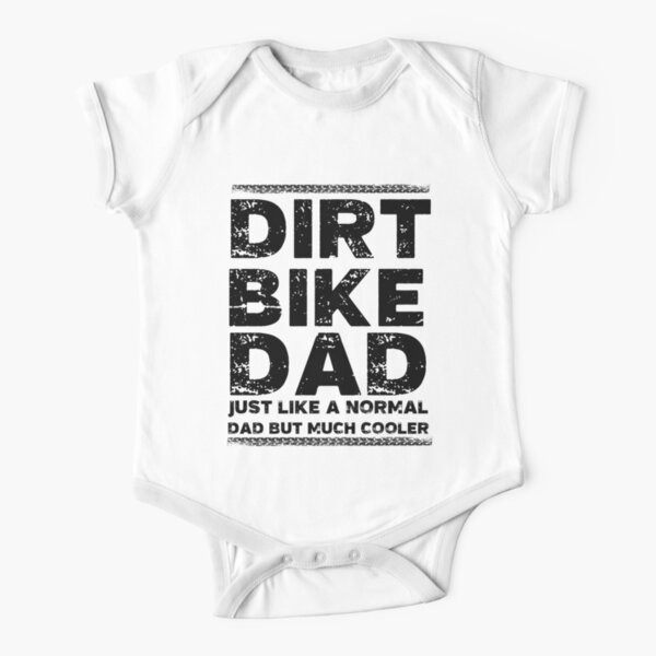 Dirt Bike Dad Short Sleeve Baby One-Piece