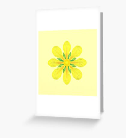 Little Yellow Flower Greeting Card