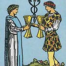 Tarot Card - Two of Cups by kaliyuga