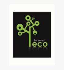 Eco Green System Art Print