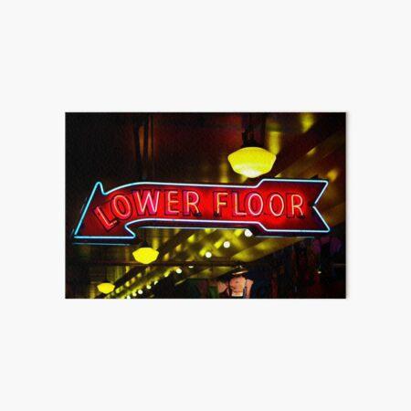 Lower Floor Neon Sign Art Board Print