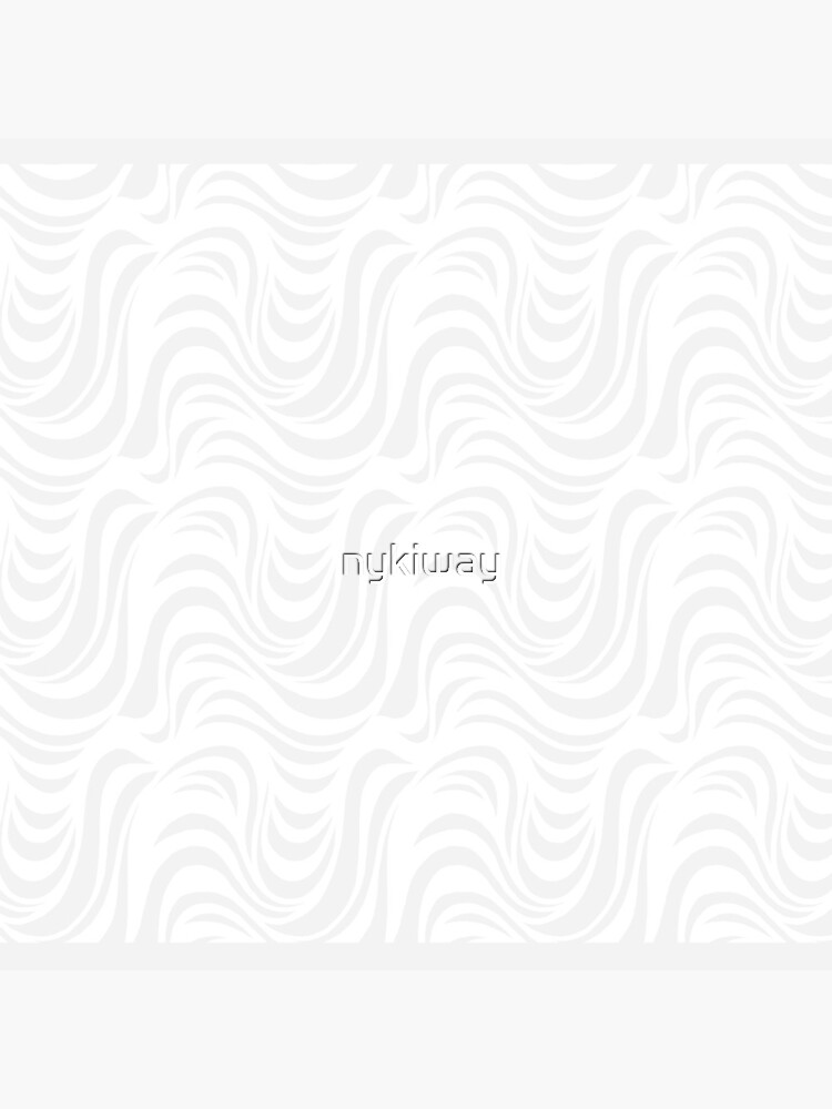 White & Gray Drippy Swirly Pattern by nykiway