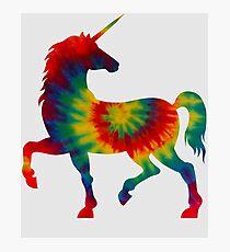 Tie Dye Unicorn Photographic Print