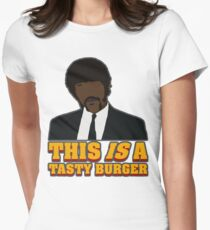 Jules, tasty burger Women's Fitted T-Shirt