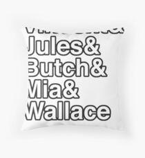 Mia Wallace - Pulp Fiction Throw Pillow