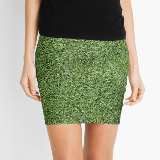 Astroturf Lush Green Turf Grass Athletic Field Texture Mini Skirt