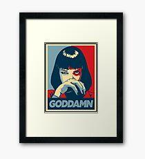 Goddamn - Pulp Fiction Framed Print